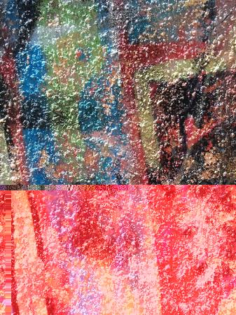 Abstracción del color del graffiti en la pared del yeso Foto de archivo - 80695205