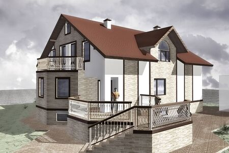 Mansion Project Model in traditional style with modern elements
