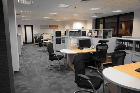 Interior of contemporary office with open space