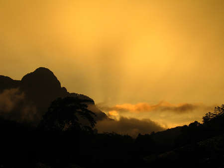 Daybreak over Khao Sok National Park, Thailand photo