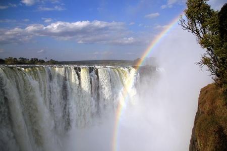 simbabwe: Blick auf den Main Falls of Victoria Falls, Zimbabwe Lizenzfreie Bilder