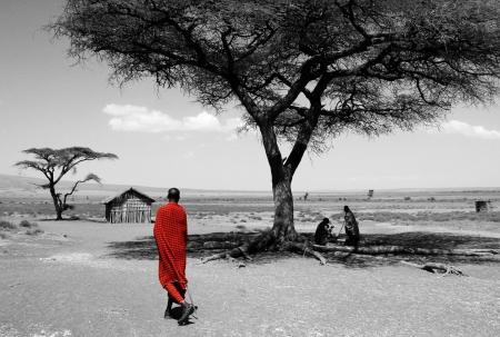 Maasai, Ngorongoro Conservation Area, Tansania Standard-Bild - 15900576