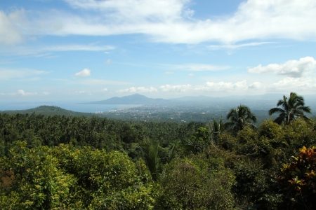 View of Manado City, Sulawesi, Indonesia Stock Photo