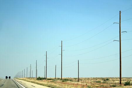 Snelweg naar Roswell, New Mexico, Verenigde Staten