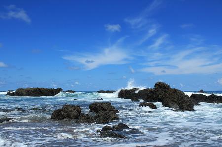 Breakers at Cano Island, Osa Peninsula, Costa Rica Stock Photo