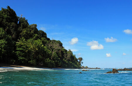 cano: Shore of Cano Island, Osa Peninsula, Costa Rica Stock Photo