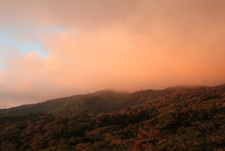 Sunset over Monteverde Cloud Forest, Costa Rica photo