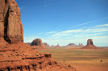 monument valley view: Scenic View of Monument Valley, Utah, United States