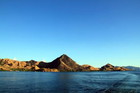 nusa: Komodo National Park, Viewed from the Water, Nusa Tenggara, Indonesia. Stock Photo