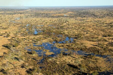 Okavango Delta: Aerial Photo of the Okavango Delta, Botswana