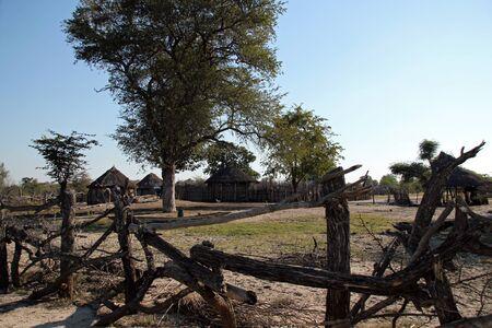 settlement: Settlement in the Okavango Area, Botswana Stock Photo