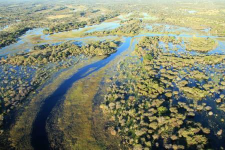 botswana: Aerial Photo of the Okavango Delta, Botswana
