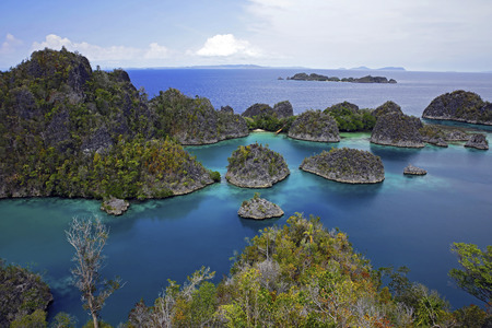 View over Pianemo. Fam, Raja Ampat, Indonesia Stock Photo
