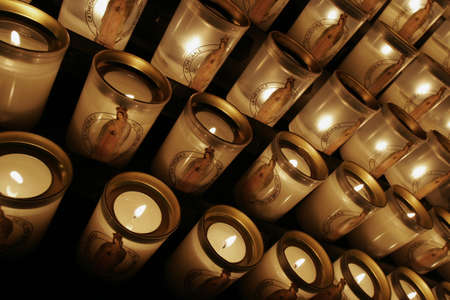 honouring: Candles for prayers, Notre Dame cathedral