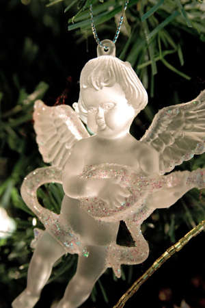 Crystal angel christmas decorations.