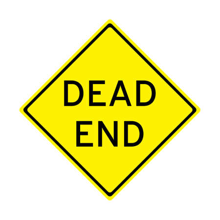Dead end sign vector illustration - no background