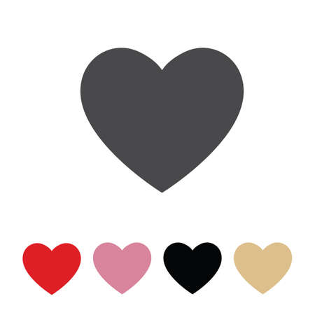 Heart decoration icon set for Valentines Day Ilustração