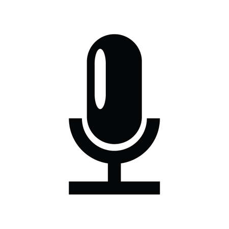 Black silhuoette microphone icon