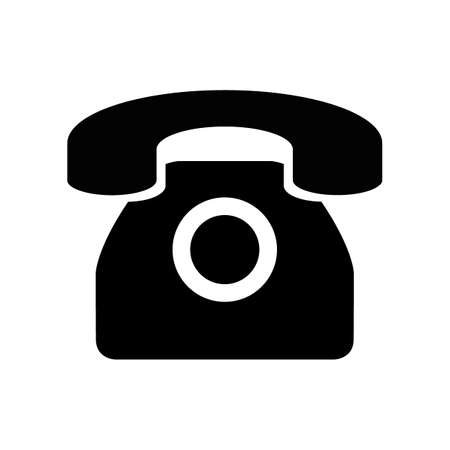 Black silhuoette phone icon