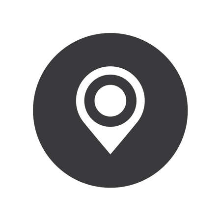 Flat round location pin icon