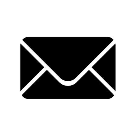 Black silhouette envelope icon