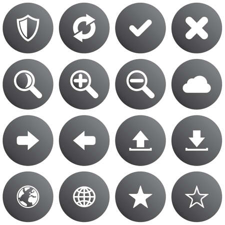 Round web application icon set