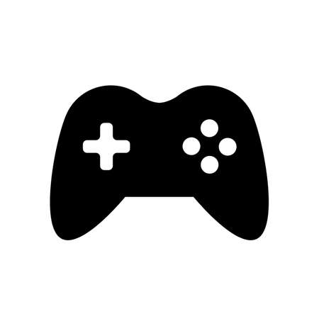 Flat black gamepad icon