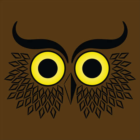 Abstract brown owl head