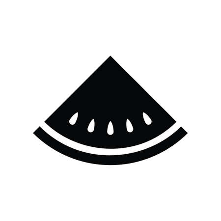 Black silhouette watermelon fruit icon