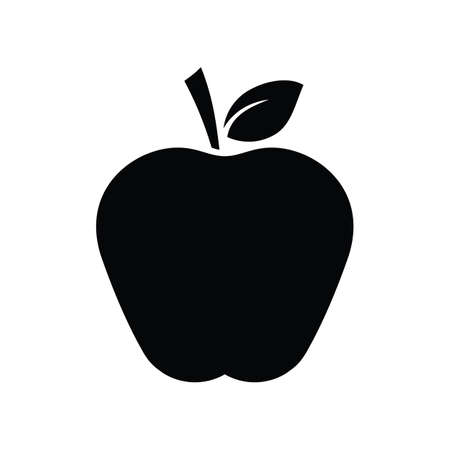 Black silhouette apple fruit icon