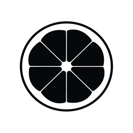 Black silhouette citrus fruit icon