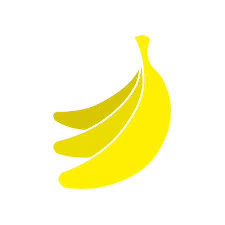 Flat yellow banana fruits icon