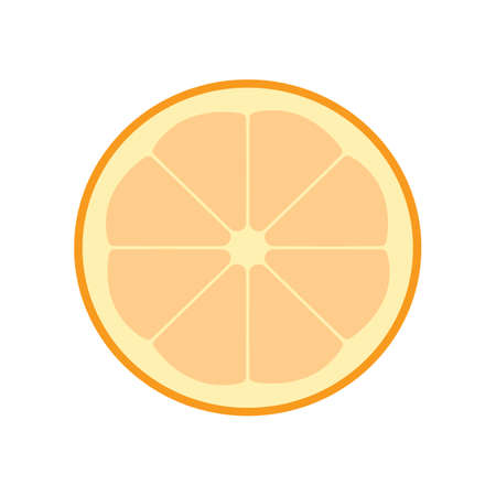 Flat color orange fruit icon