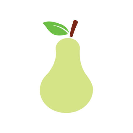Flat color pear fruit icon
