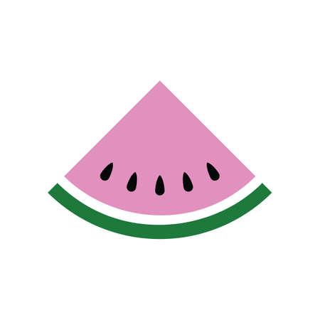 Flat color watermelon fruit icon