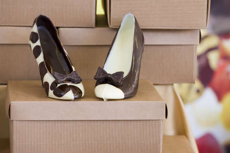 chocolate fashion shoes photo