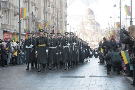 observance: Vilnius, Lithuania - March 11, 2010.  Lithuania celebrates Independence day. March 11, 1990, after 50 years of occupation by Soviet Union, Lithuania declared its Independence. It is 20 anniversary of independence in 2010