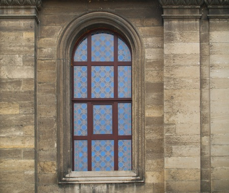 gothic window: cathedral stained-glass window
