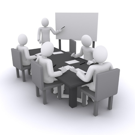 Business meeting, board