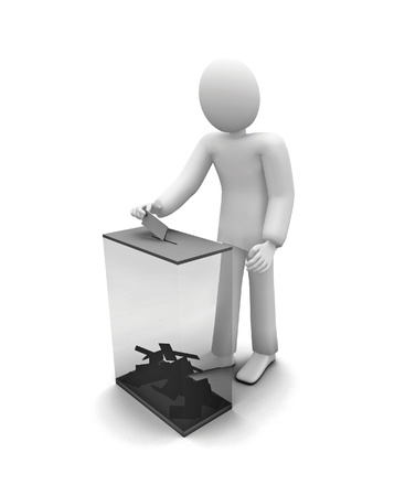 casts: 3d human voiting, elections Stock Photo