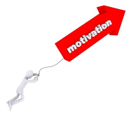 Motivation pulls a man