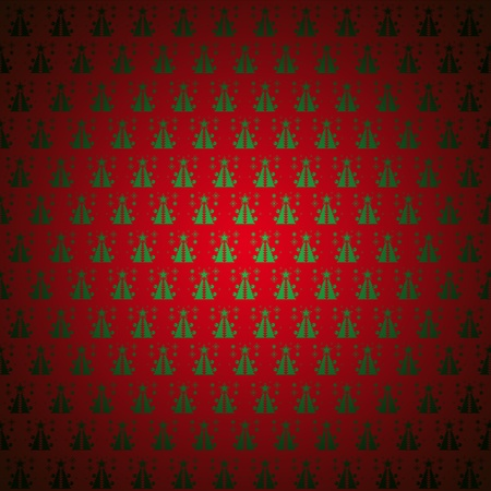 christmastree: Seamless pattern wallpaper red christmas-tree, snowflakes