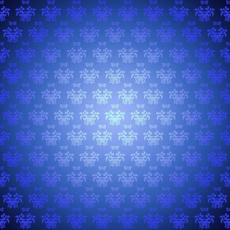 Seamless pattern wallpaper blue flowers photo