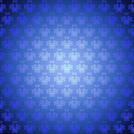 bstract: Seamless pattern wallpaper blue flowers