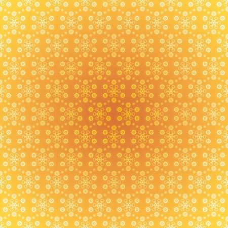 Seamless pattern wallpaper light gold snowflakes Stock Photo - 11973033