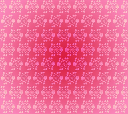 rosy: Seamless pattern wallpaper light pink small fruits and berries