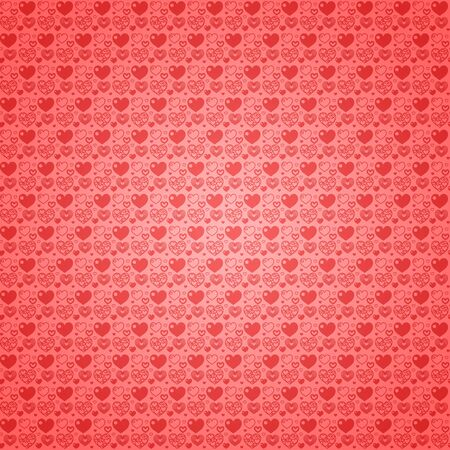 Seamless pattern wallpaper light red hearts Stock Photo - 11973037