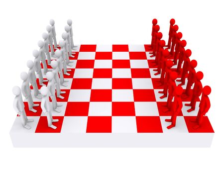 people like figures on a chessboard Stock Photo - 11972976