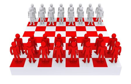 people like figures on a chessboard Stock Photo - 11972986