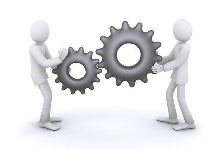 mechanism of joint work, people as gears
